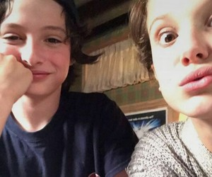 finn wolfhard, eleven, and stranger things image