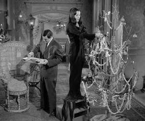 morticia, addams, and christmas image