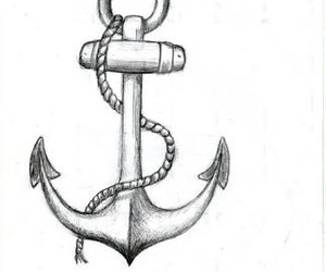 drawing, anchor, and art image