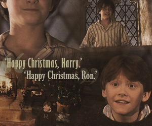 harry potter, ron, and christmas image