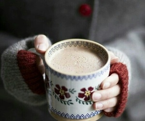 coffee, drink, and snow image