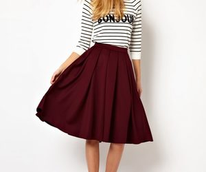 a line, midi skirt, and snappy image