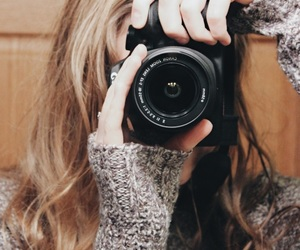 camera, cannon, and girl image