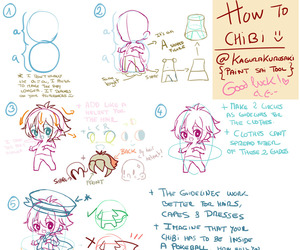 chibi, simple, and step image