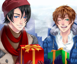 armin, kentin, and christmas image