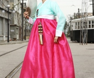 city, costume, and hanbok image