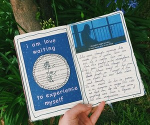 blue, diary, and journaling image