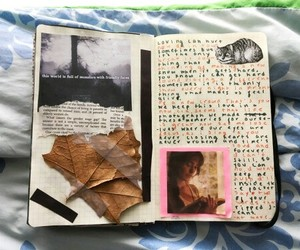 journals, notebook, and pics image
