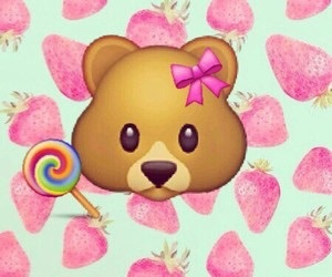 emoji, bear, and wallpaper image