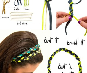 diy, hair, and headband image