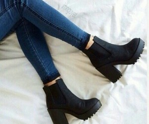 black, style, and shoes image