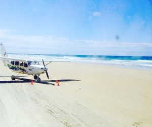 australia, beach, and plane image