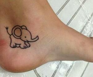 tattoo, elephant, and cute image