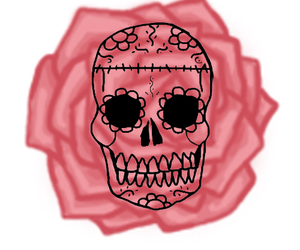 day of the dead, skull, and death image