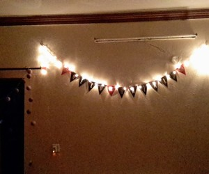 fairy lights, lights, and nerd hazard image