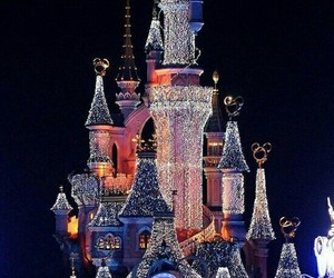 light, disneyland, and paris image