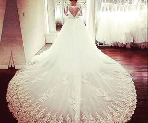 fashion, wedding dress, and woman girl image