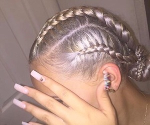 cornrows, nails, and hairstyles image
