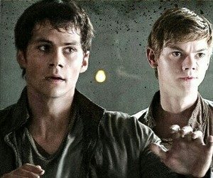 newt, thomas, and dylanobrien image