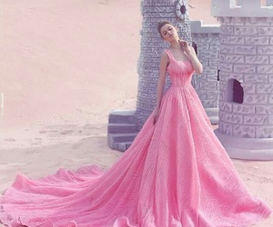 dress, pink, and beauty image