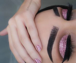 beautiful, eyebrows, and liner image
