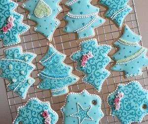 baking, blue, and christmas image