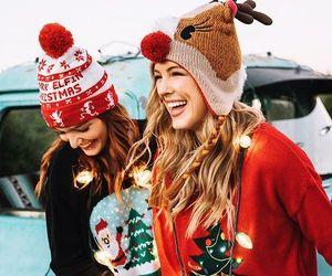 christmas, girls, and fashion image