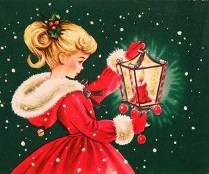 christmas and vintage image