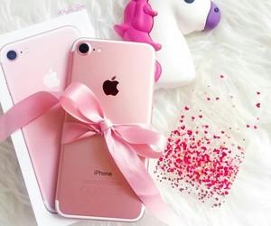iphone, pink, and unicorn image
