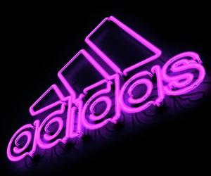 adidas, neon, and light image