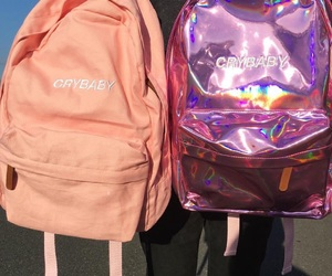 bags, crybaby, and pink image
