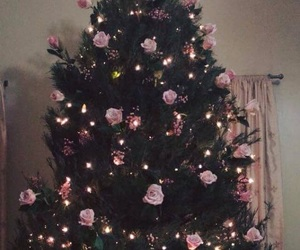 christmas tree, pink, and aesthetic image