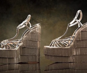 fashion, shoes, and golden image