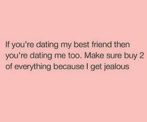 best friend, jealous, and quote image
