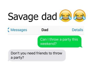 cha, dad, and party image