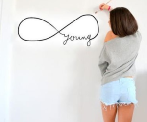 girl, young, and infinity image