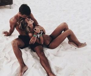 beach, girlfriend, and vibe image