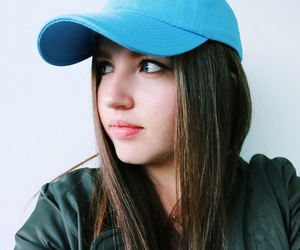baseball hat, picture, and girl image
