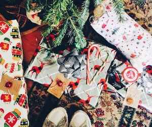 candy canes, gifts, and merry christmas image