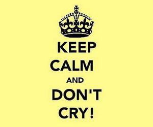 keep calm and cry image