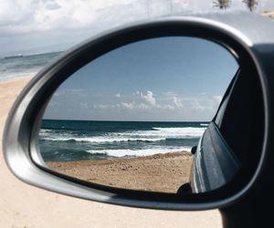 car and sea image
