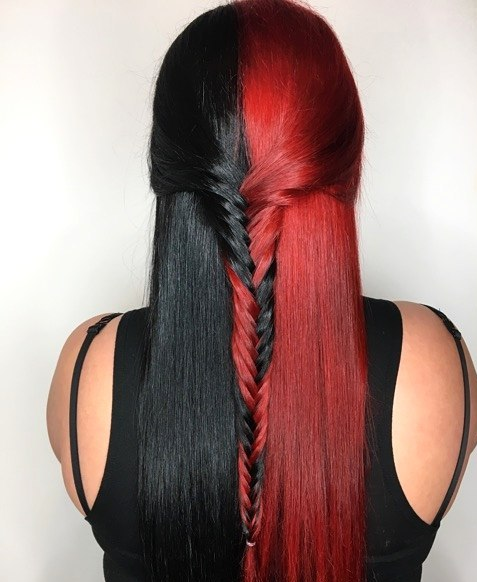 hair, beautiful, and black image