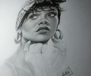 arte, rihanna, and carboncillo image