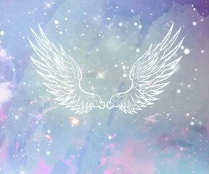 wallpaper, galaxy, and wings image