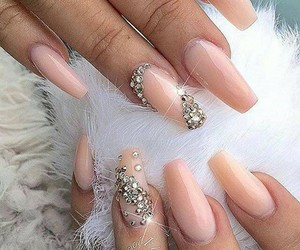 nails, style, and bling image