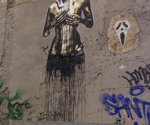 art, femme, and graffiti image