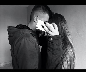 black and white, cold, and couples image
