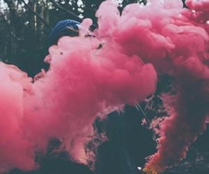pink, smoke, and grunge image