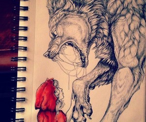 cool, little red riding hood, and red image