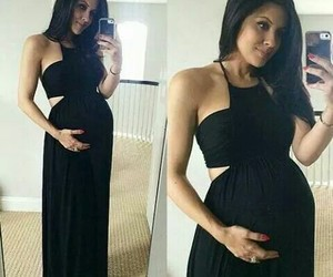 fashion, pregnant, and outfit image